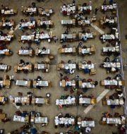 Rösträkning i San Juan i Puerto Rico. Carlos Giusti / TT NYHETSBYRÅN