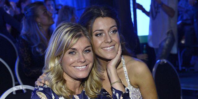 Pernilla Wahlgren och dottern Bianca  TT