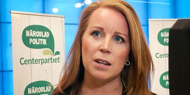 Centerpartiets ledare Annie Lööf. AKVELINA SMED/TT / TT NYHETSBYRÅN