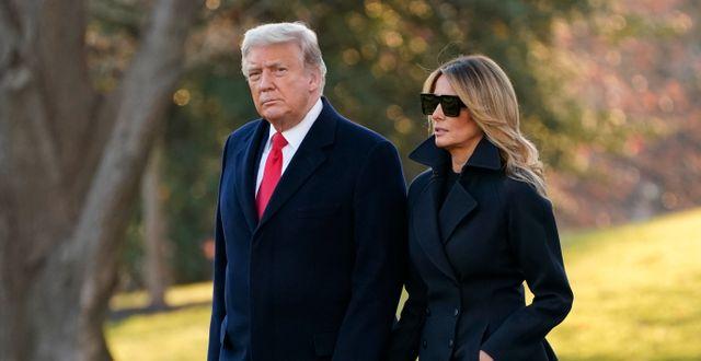 Donald Trump och Melania Trump.  Evan Vucci / TT NYHETSBYRÅN