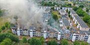 Branden i Linköping. Jeppe Gustafsson/TT / TT NYHETSBYRÅN