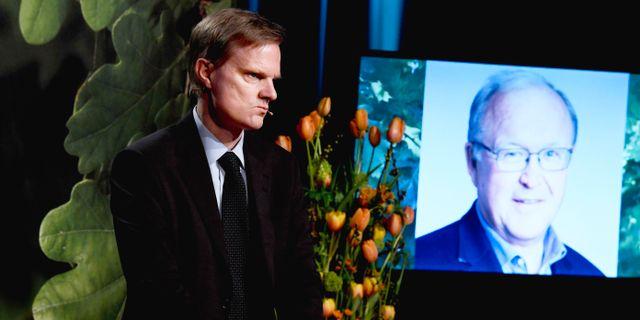 Swedbanks vd Jens Henriksson och ordförande Göran Persson kommenterade slutrapporten om penningtvättshärvan för drygt en vecka sedan. Pontus Lundahl/TT / TT NYHETSBYRÅN