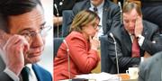Ulf Kristersson (M), Isabella Lövin (MP) och Stefan Löfven (S). TT