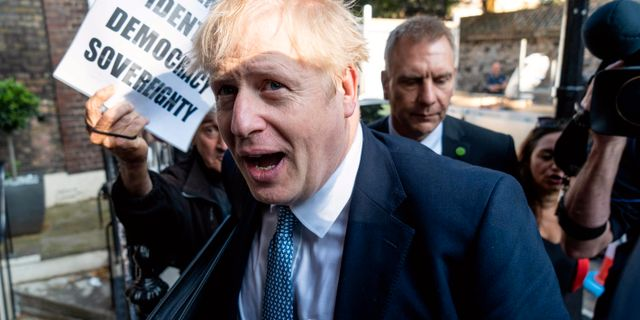 Boris Johnson NIKLAS HALLE'N / AFP