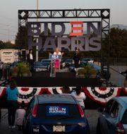 Kampanjmöte för Joe Biden i Texas. Yi-Chin Lee / TT NYHETSBYRÅN