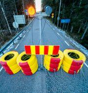 Stängd gräns mellan Sverige och Norge. Bilden är från 26 januari. Torstein Bøe / TT NYHETSBYRÅN