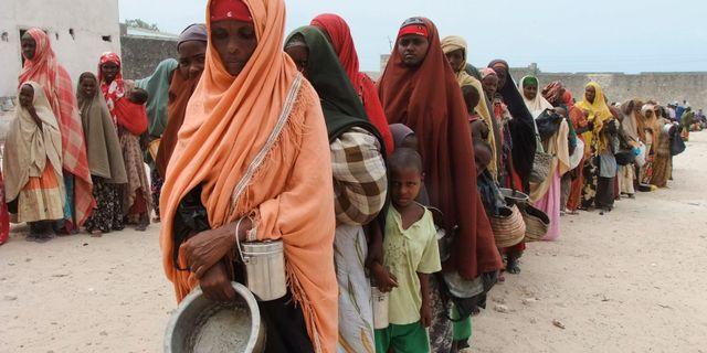 Somaliska kvinnor köar för nödhjälp i Mogadishu i samband med en torka 2011. Farah Abdi Warsameh / TT NYHETSBYRÅN/ NTB Scanpix