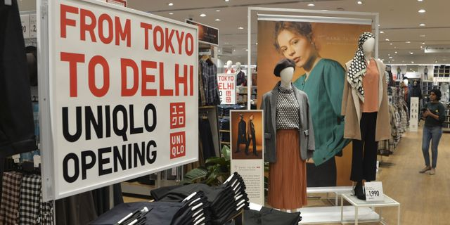 Illustrationsbild: Uniqlo-butik i indiska New Delhi.  SAJJAD HUSSAIN / AFP
