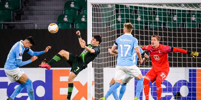 Josip Brekalo med en målchans för Wolfsburg. LUDVIG THUNMAN / BILDBYRÅN