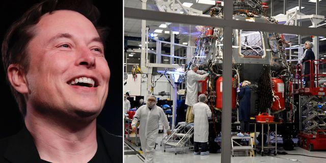 Elon Musk / Space X-tekniker i arbete TT.