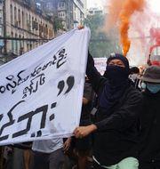 Protester i Myanmar.  TT
