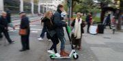 Arkivbild: En Lime-skoter i Madrid, på en bild från november. SUSANA VERA / TT NYHETSBYRÅN