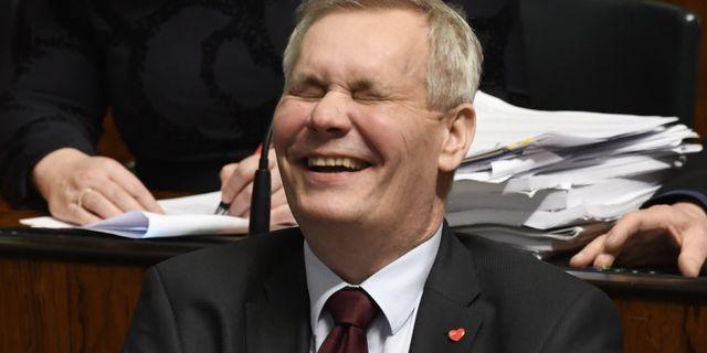 Antti Rinne, ledare för Finlands största oppositionsparti Socialdemokraterna. HEIKKI SAUKKOMAA / Lehtikuva
