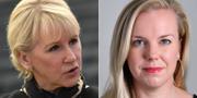 Utrikesminister Margot Wallström (S) och Linda Westerlund Snecker (V). TT