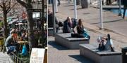 Bilder från påskafton i Stockholm. TT