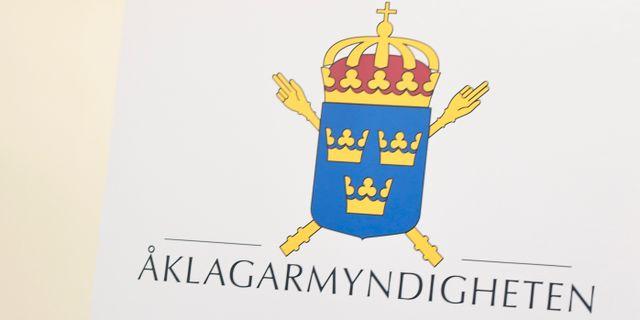 Åklagarmyndighetens logotyp. Arkivbild. Pontus Lundahl/TT / TT NYHETSBYRÅN