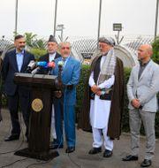 Delegation från den afghanska regeringen. Mariam Zuhaib / TT NYHETSBYRÅN
