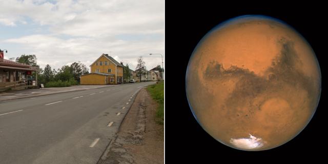 Glommersträsk / Mars fotograferat genom Hubbleteleskopet Wikimedia Commons / TT / NTB Scanpix