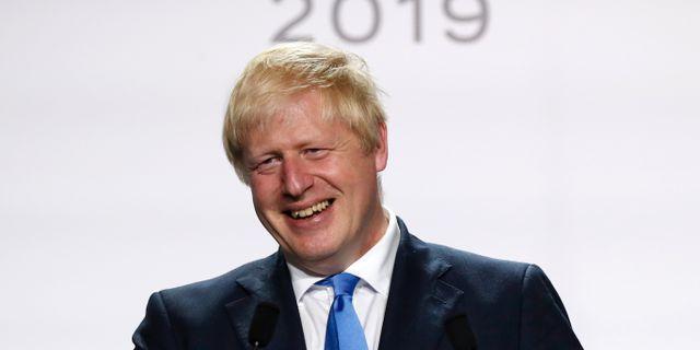 Boris Johnson på G7-mötet. Francois Mori / TT NYHETSBYRÅN