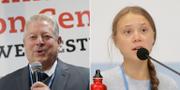 Al Gore och Greta Thunberg.  TT