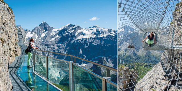 The Thrill Walk är en riktig höghöjdsskräckis i schweiziska Alperna. Wikicommons