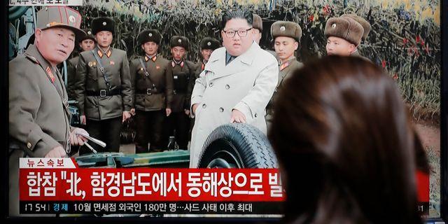 Nordkoreas ledare Kim Jong-Un. Arkivbild. Lee Jin-man / TT NYHETSBYRÅN