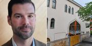 Johan Forssell (M) och Stockholms moské vid Björns trädgård. Arkivbilder. TT