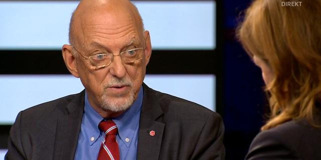 Hans Dahlgren i Agendastudion. SVT