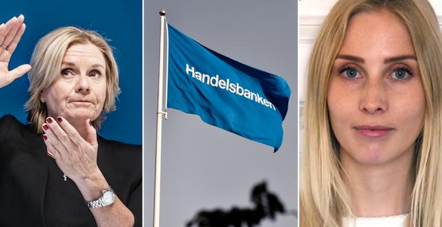 Swecos vd Åsa Bergman och Handelsbankens analytiker Josefin Johansson.