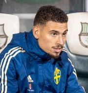 Jordan Larsson i svenska landslaget.  CARL SANDIN / BILDBYRÅN