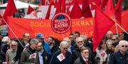 Socialdemokraternas första maj-tåg 2019. Johan Nilsson/TT / TT NYHETSBYRÅN