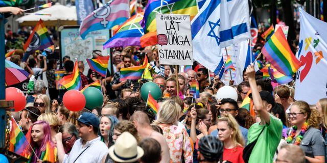 Från Prideparaden i Malmö 2018. Johan Nilsson/TT / TT NYHETSBYRÅN