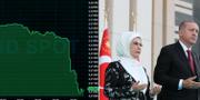 President Erdogan med fru. TT