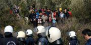 Flyktingar på den grekiska ön Lesbos Alexandros Michailidis / TT NYHETSBYRÅN