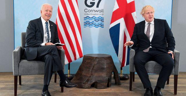 Joe Biden och Boris Johnson. Toby Melville / TT NYHETSBYRÅN
