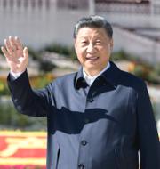 Xi Jinping och Joe Biden. TT