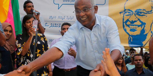 Ibrahim Mohamed Solih. Eranga Jayawardena / TT NYHETSBYRÅN/ NTB Scanpix