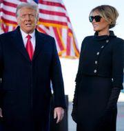 Donald och hustrun Melania Trump.  Manuel Balce Ceneta / TT NYHETSBYRÅN
