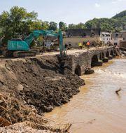 Minst 200 personer har dött i översvämningarna i Tyskland.  Philipp von Ditfurth / TT NYHETSBYRÅN