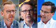 Mikael Damberg, Göran Hägglund, Ulf Kristersson TT
