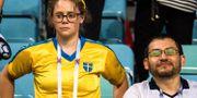 Deppig svensk supporter. JOEL MARKLUND / BILDBYR N