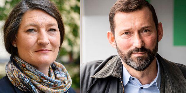 LO:s föreslagna ordförande Susanna Gideonsson och Stefan Koskinen. TT