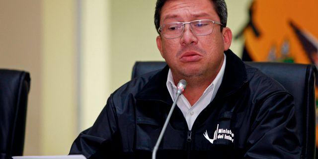 Ecuadors inrikesminister César Navas CRISTINA VEGA RHOR / AFP