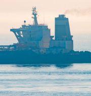 Oljetankern Grace 1 släpptes på fredagen, efter beslut från Gibraltars högsta domstol.  Marcos Moreno / TT NYHETSBYRÅN