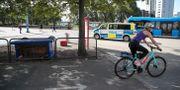 Bild från platsen där två unga män rånades, en av männen dog. Adam Ihse/TT / TT NYHETSBYRÅN