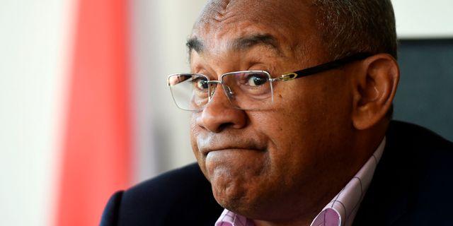 Ahmad Ahmad, vice ordförande för Fifa, har släppts.  KHALED DESOUKI / AFP