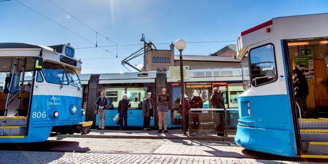 Spårvagnar i Göteborg.  Adam Ihse/TT / TT NYHETSBYRÅN