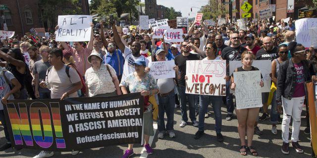 Demonstrationer i Boston mot en manifestation mot  Scott Eisen / GETTY IMAGES NORTH AMERICA