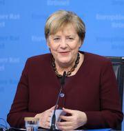 Angela Merkel Aris Oikonomou / TT NYHETSBYRÅN