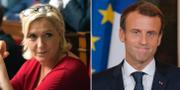 Le Pen (t v), Macron (t h). TT